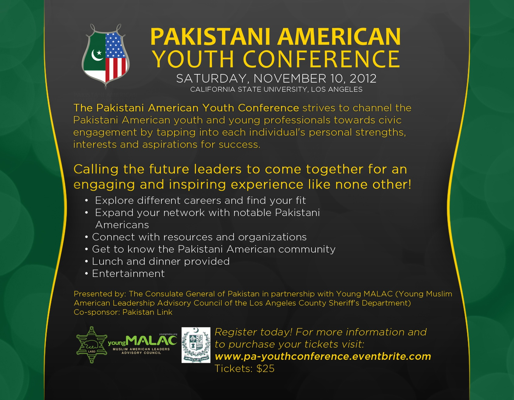 Pakistani American Youth Conference LA, CA, USA – Nov 10, 2012